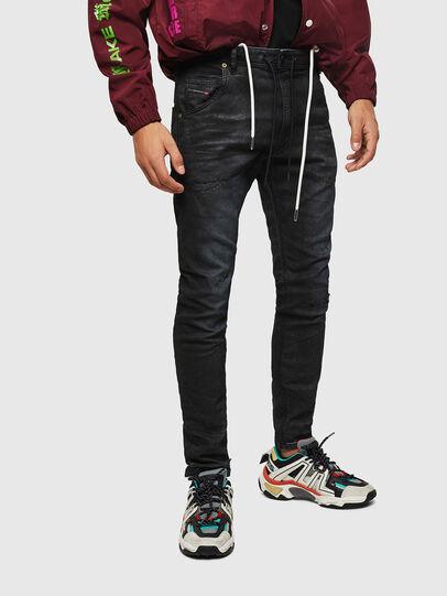 Diesel - Krooley JoggJeans 069GP, Black/Dark grey - Jeans - Image 1