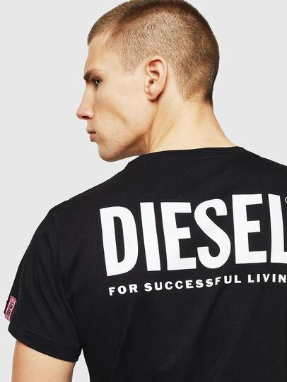 Diesel - LR-T-DIEGO-VIC, Black - T-Shirts - Image 5