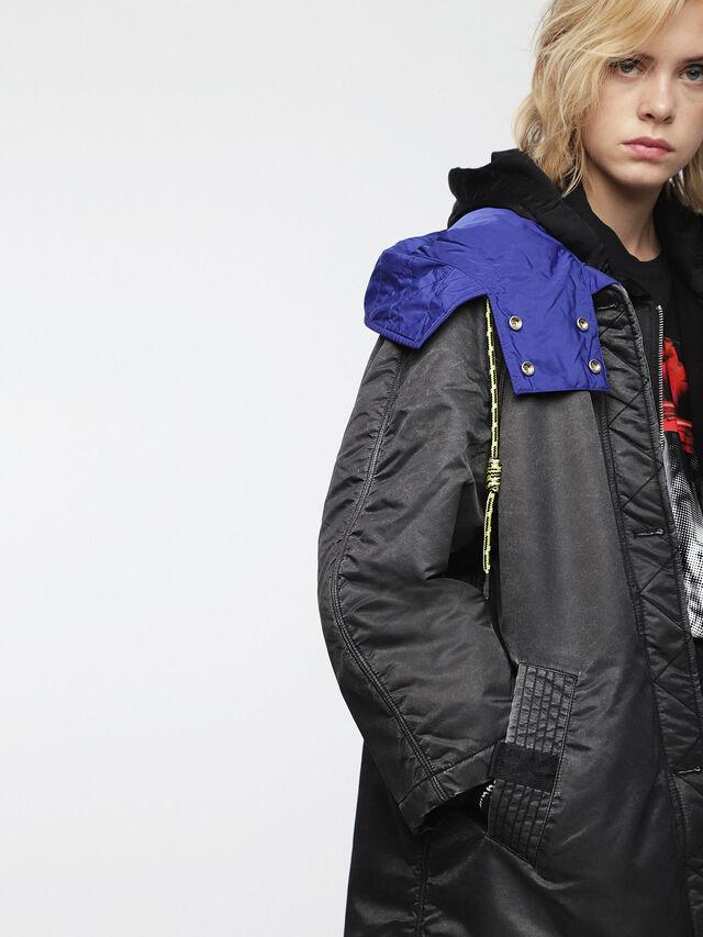 Diesel - W-ROME, Black/Blue - Winter Jackets - Image 5