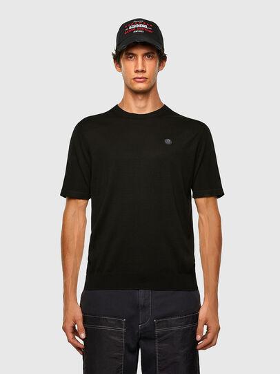 Diesel - K-CROFT-SS, Black - Knitwear - Image 4