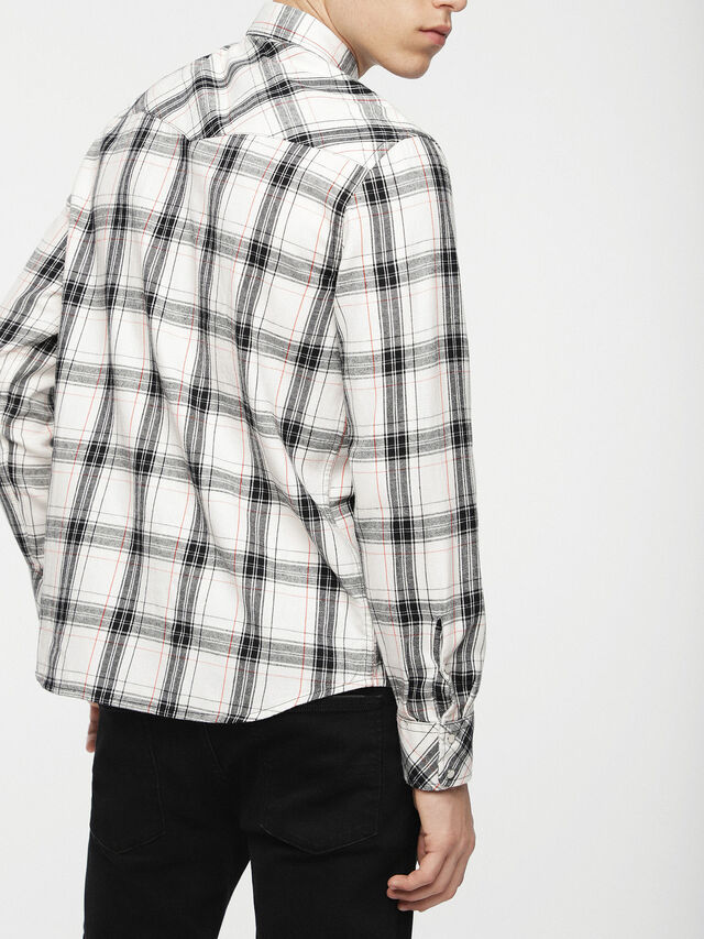 Diesel - S-EAST-LONG-C, White/Black - Shirts - Image 2