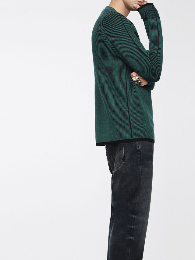 Diesel - K-BLEND, Bottle Green - Knitwear - Image 3