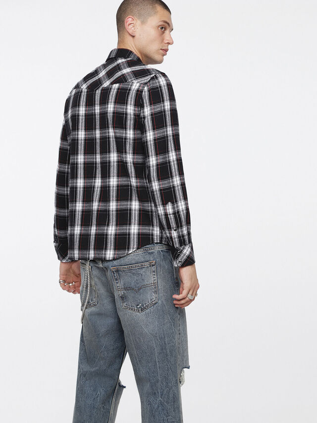 Diesel - S-EAST-LONG-C, Black/White - Shirts - Image 2