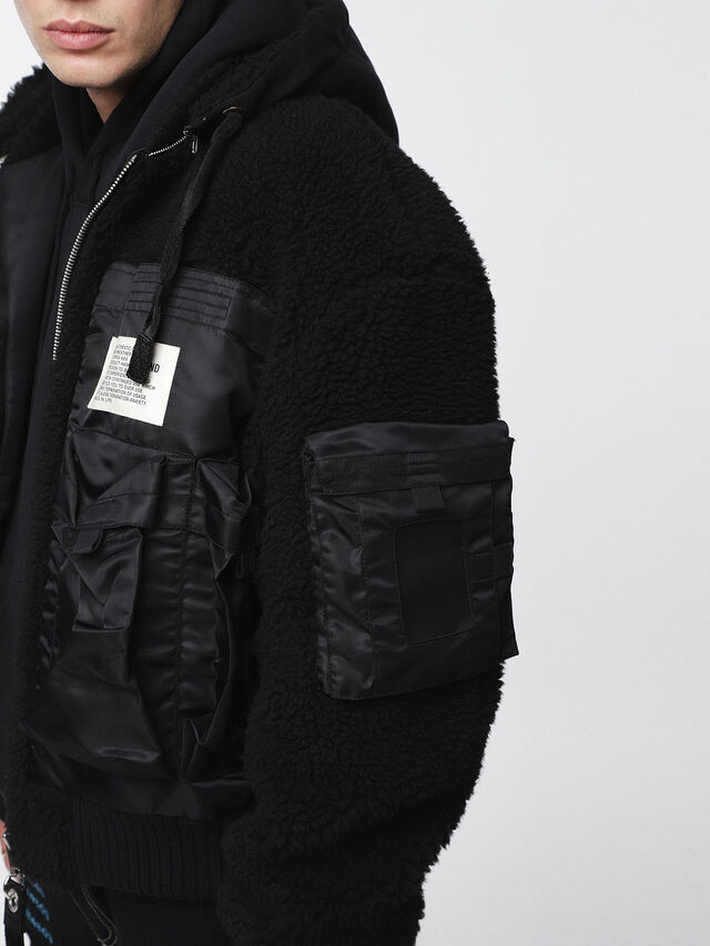Diesel - W-PATTY, Black - Winter Jackets - Image 5