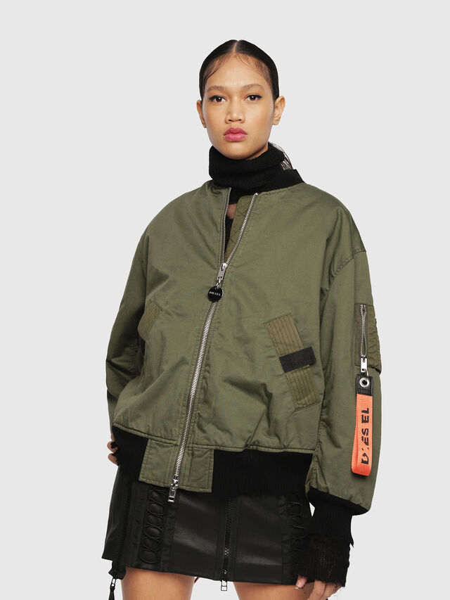 Diesel - W-ZALIA, Military Green - Winter Jackets - Image 1