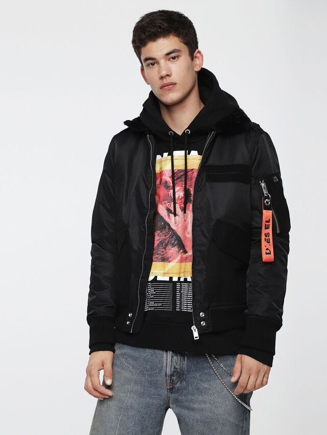Diesel - W-SLOTKIN, Black - Winter Jackets - Image 1