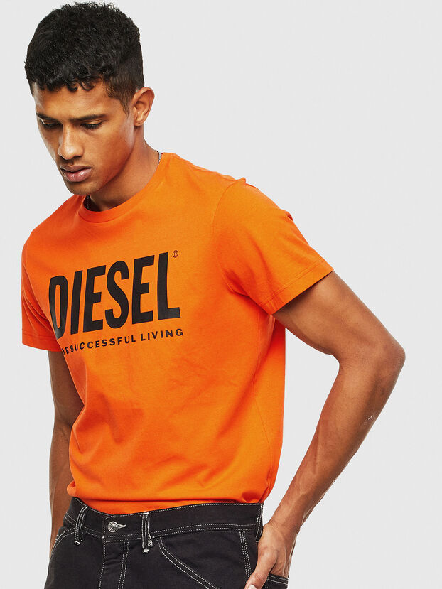 T-DIEGO-LOGO, Orange - T-Shirts