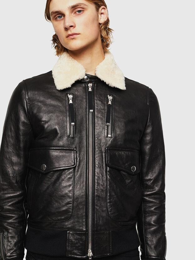L-VINT, Black - Leather jackets