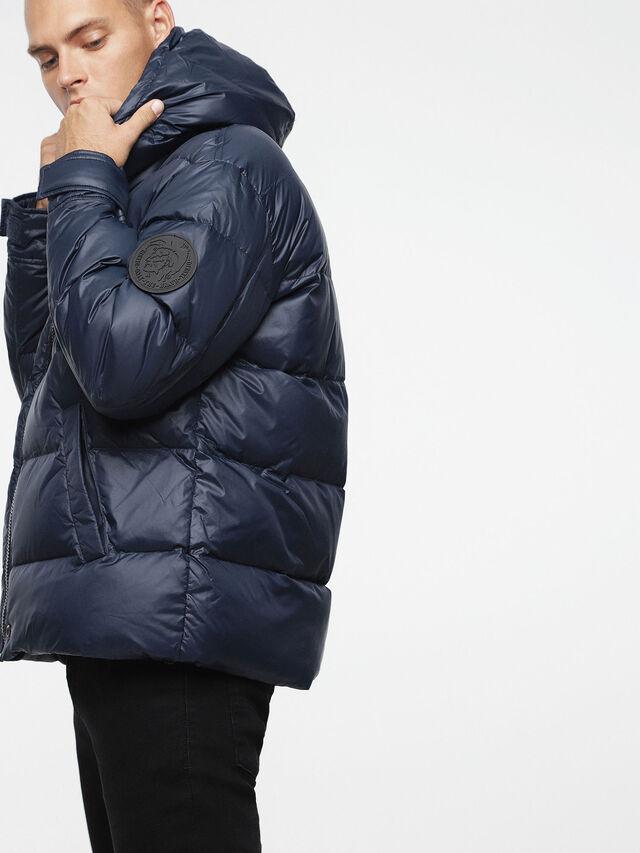 Diesel - W-SMITH-A, Blue - Winter Jackets - Image 6