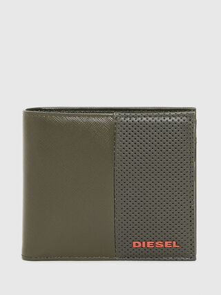 562412d2a4cc0 Bi-fold wallet in textured leather