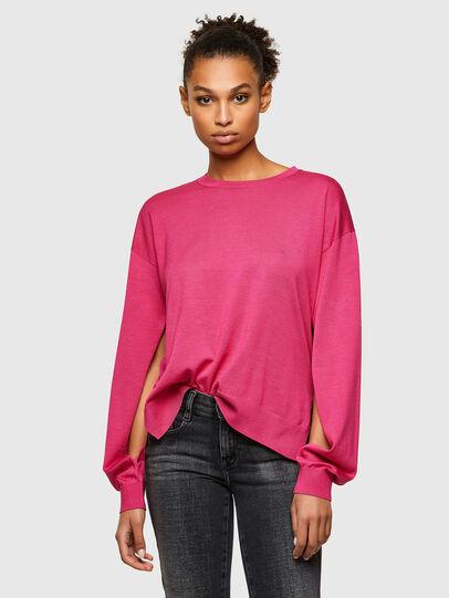 Diesel - M-JADE, Hot pink - Knitwear - Image 1