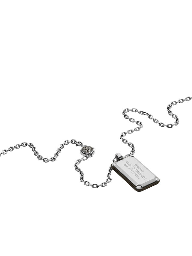 Diesel NECKLACE DX1019, Silver - Necklaces - Image 2