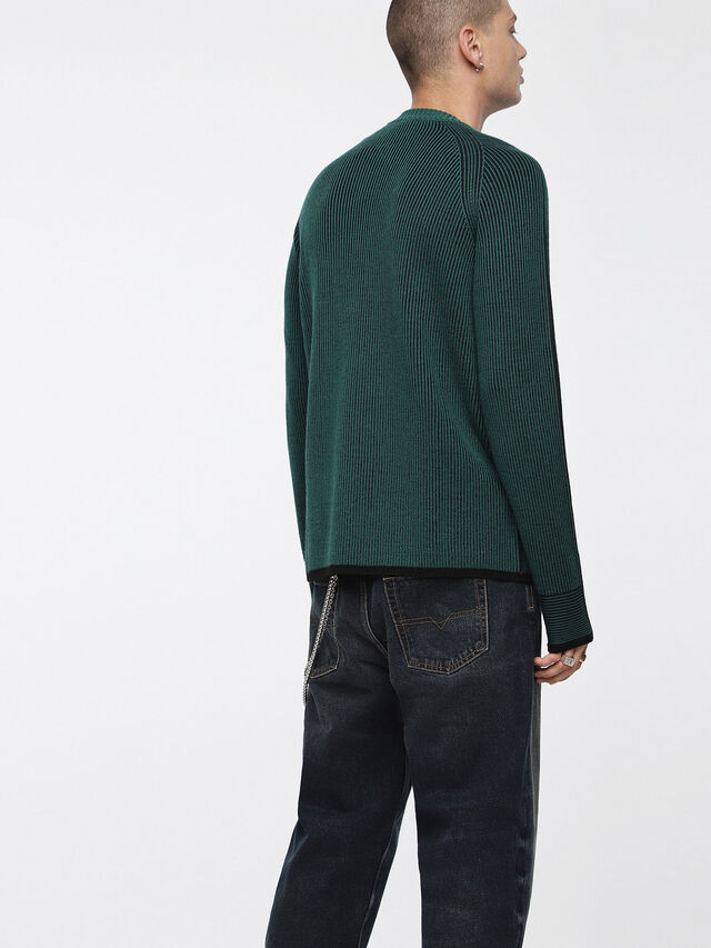 Diesel - K-BLEND, Bottle Green - Knitwear - Image 2