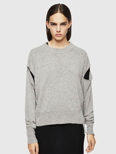 Diesel - M-CRISTAL, Grey - Knitwear - Image 1
