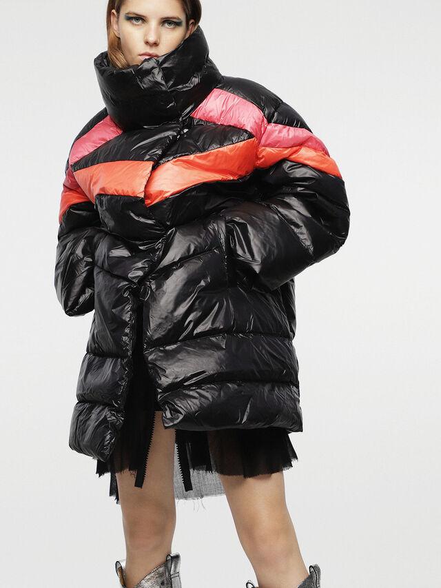 Diesel - W-HERMA, Black - Winter Jackets - Image 1