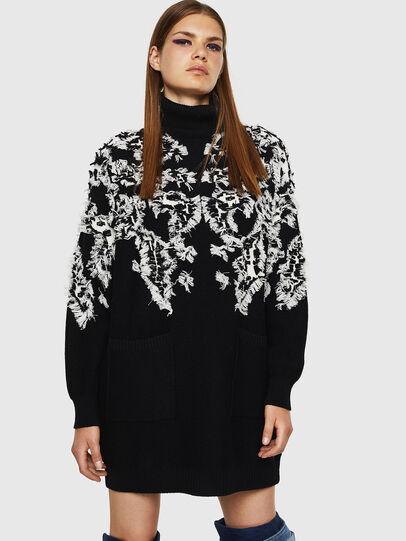 Diesel - M-CV-FURS, Black - Knitwear - Image 1