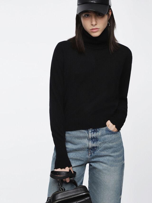 Diesel - M-HACNY, Black - Knitwear - Image 1