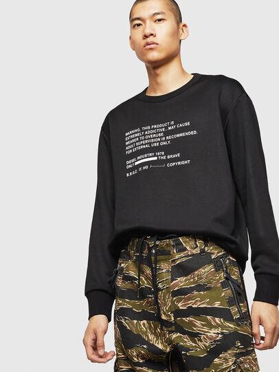 Diesel - S-BAY-MESH, Black - Sweaters - Image 4