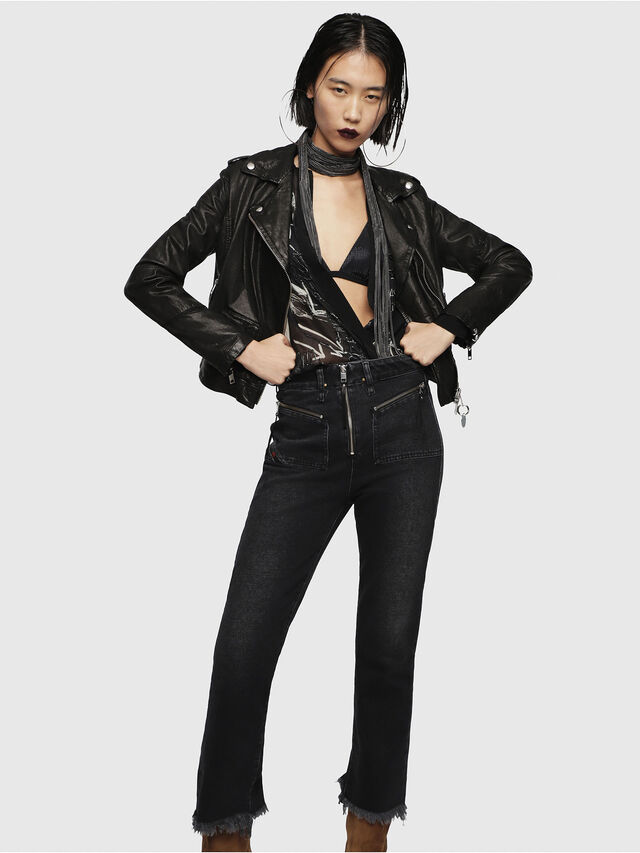 Diesel - L-SERY, Black Leather - Leather jackets - Image 5