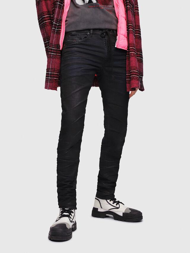Diesel - Thommer JoggJeans 0688U, Black/Dark grey - Jeans - Image 1