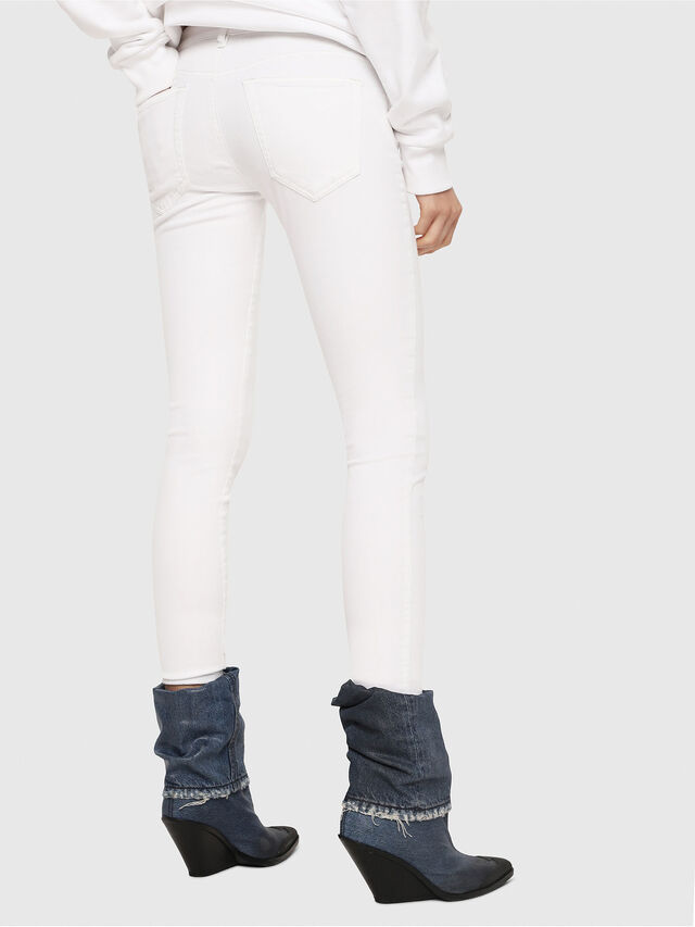 Diesel - Slandy Low 086AC, White - Jeans - Image 2