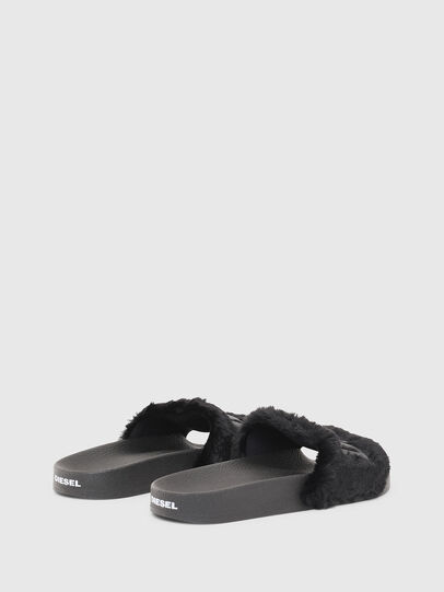 Diesel - SA-VALLA R W, Black - Slippers - Image 3