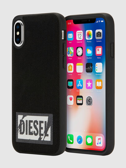 Diesel - BLACK DENIM IPHONE X CASE, Black - Cases - Image 1