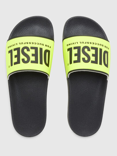 Diesel - SA-VALLA W, Black/Yellow - Slippers - Image 5