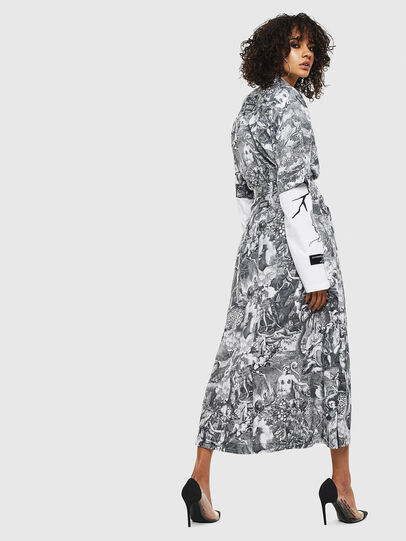 Diesel - O-MOYA-B, Black/White - Skirts - Image 8