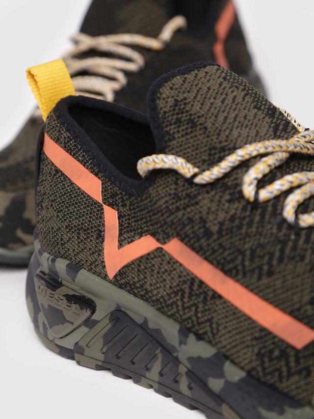 Diesel - S-KBY, Green Camouflage - Sneakers - Image 4