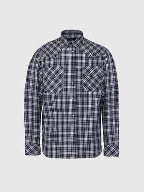 S-EAST-LONG-O, Black/White - Shirts