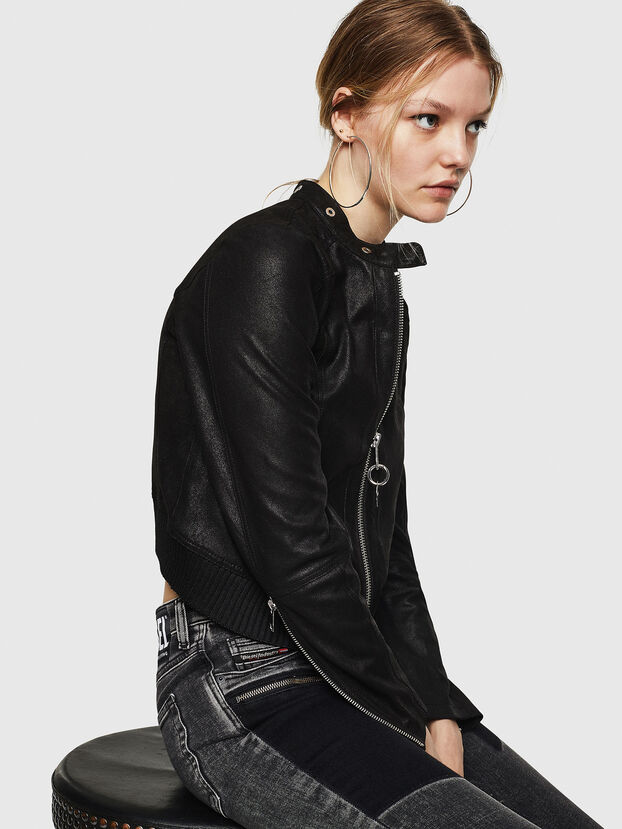 L-LYSSA-G, Black - Leather jackets