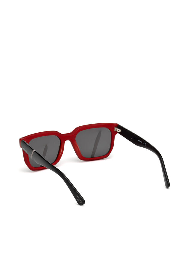 Diesel - DL0253, Black/Red - Eyewear - Image 2