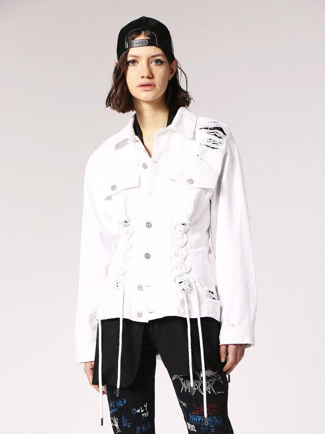 Diesel - DE-OCYD, White - Denim Jackets - Image 1
