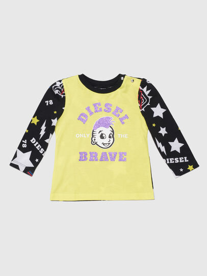 Diesel - TULLAB, Black/Yellow - T-shirts and Tops - Image 1
