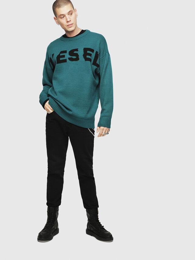 Diesel - K-LOGOX, Dark Green - Knitwear - Image 4