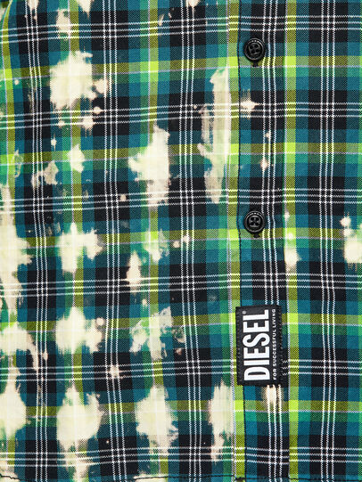 Diesel - S-MOON-CHECK, Green - Shirts - Image 4