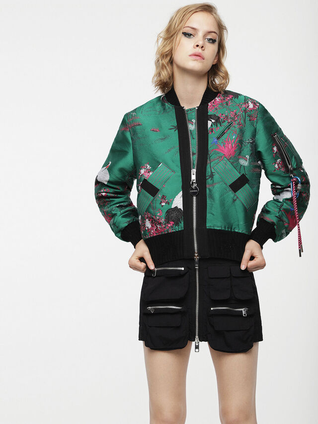 Diesel - G-BRUCE-A, Green - Jackets - Image 1