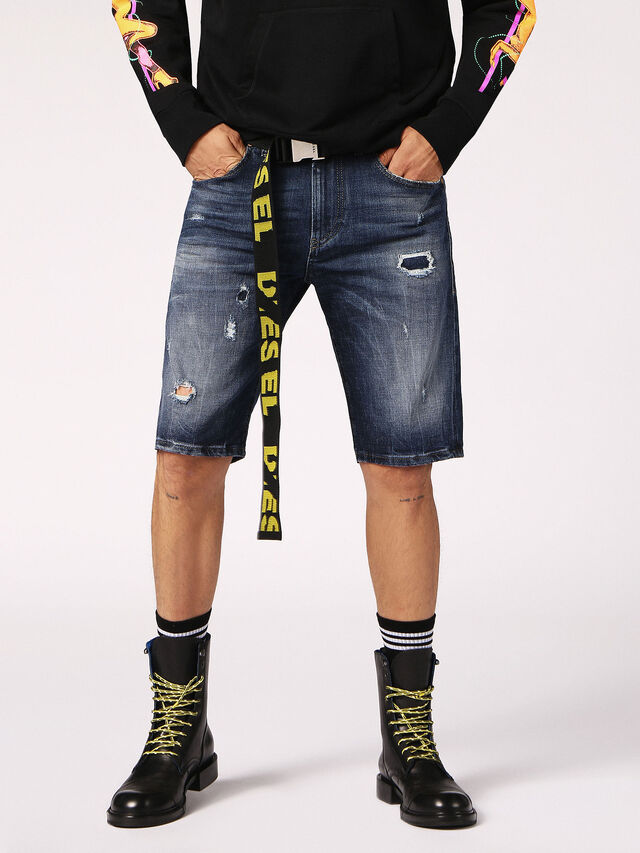Diesel - THOSHORT, Blue Jeans - Shorts - Image 4