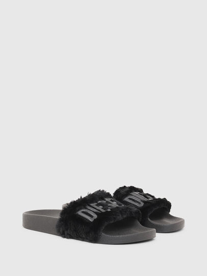 Diesel - SA-VALLA R W, Black - Slippers - Image 2