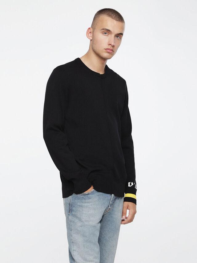 Diesel - K-TOP, Black - Knitwear - Image 1