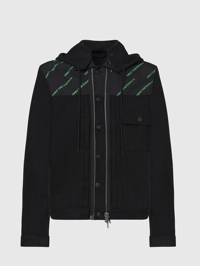 Diesel - D-COSMIC, Black - Denim Jackets - Image 1