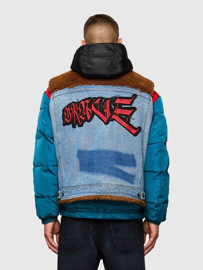 Diesel - W-HEROESY, Blue/Brown - Winter Jackets - Image 2