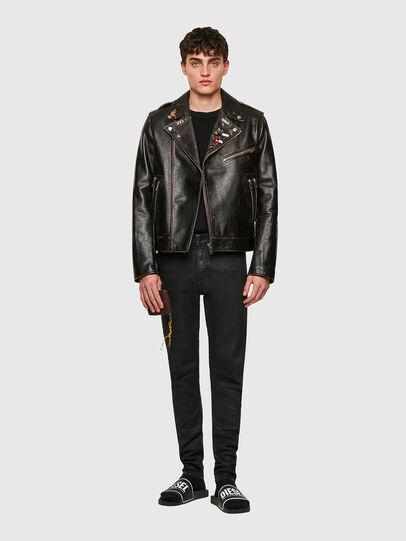 Diesel - L-GARRETT-NEW, Black - Leather jackets - Image 5