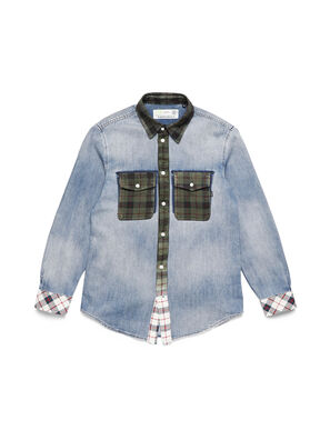D-DEEPCHECK-A, Light Blue - Denim Shirts