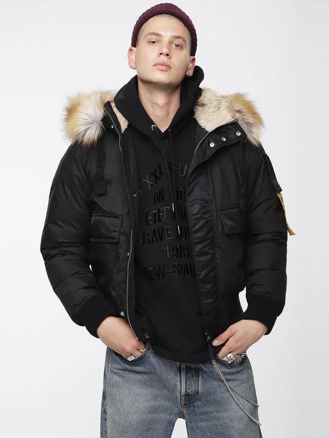 Diesel - W-BURKE, Black - Winter Jackets - Image 1