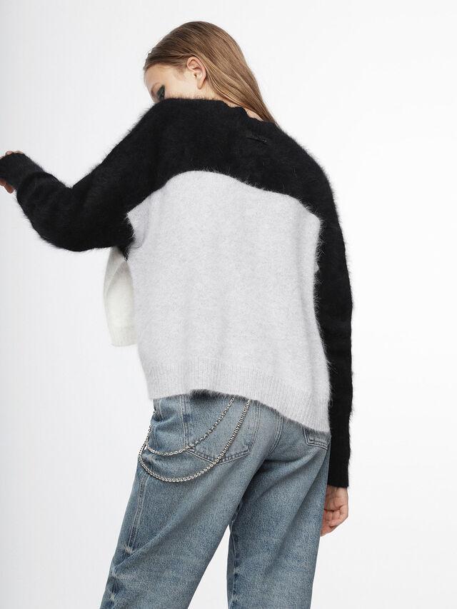 Diesel - M-AIRY, Black/White - Knitwear - Image 2