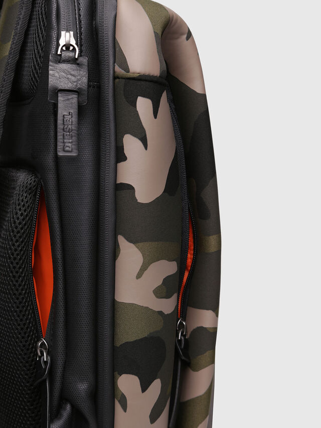 Diesel - F-SUBCAMOU BACK, Green Camouflage - Backpacks - Image 5