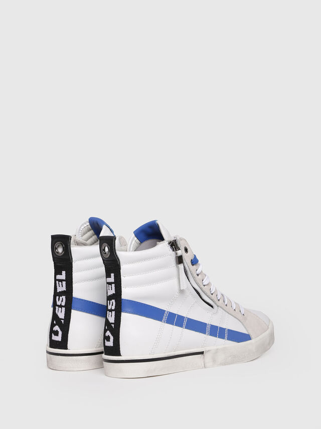 Diesel - D-VELOWS MID LACE, White/Blue - Sneakers - Image 2