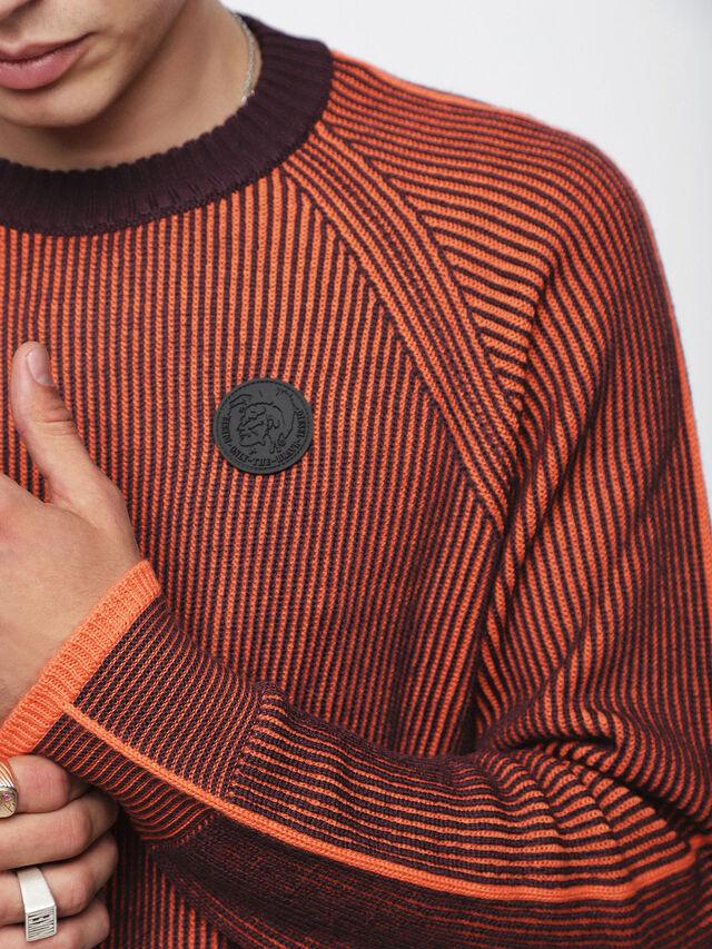 Diesel - K-BLEND, Orange/Black - Knitwear - Image 3